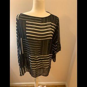 Chaps black/ white striped tunic; PXL